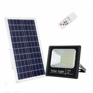 Прожектор на солнечных батареях уличный светодиодный 100 Вт Solar-FL-100