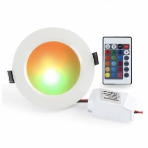 RGB светильник потолочный с пультом RLP-RGB-5 5Вт КРУГЛЫЙ