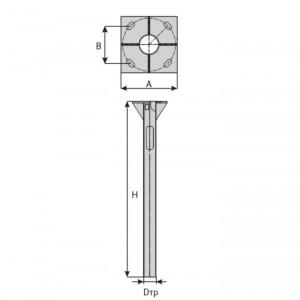 Закладная для опоры освещения ФЧ-1,25-108