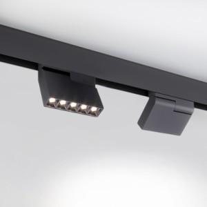 Квадратный трековый светильник EL-MAG-34-45 10W 140 мм направленного света