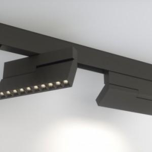 Поворотный трековый магнитный светильник EL-MAG-PRO-34-45 20W угол 45 градусов