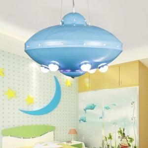 Люстра НЛО детская светодиодная с пультом 31Вт Голубая