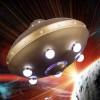 Люстра НЛО детская светодиодная с пультом 31Вт Медная